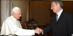 Blair blessing Pope