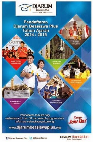 Pendaftaran Djarum Beasiswa Plus TA 2014-2015
