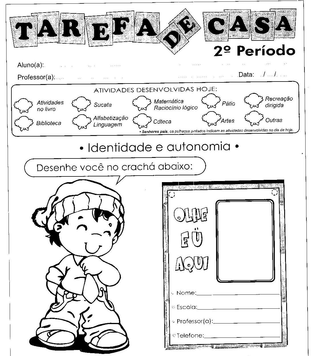 atividades alfabetizacao jardim horta pomar:Ciranda da aprendizagem: Atividades para educação Infantil