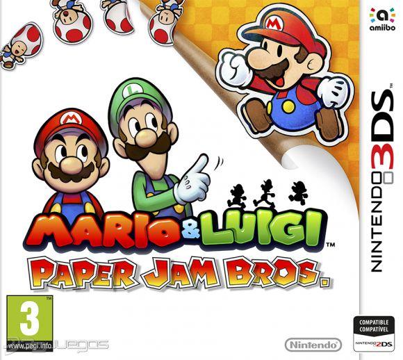 descargar Mario & Luigi Paper Jam Bros para nintendo 3ds 1 link mega