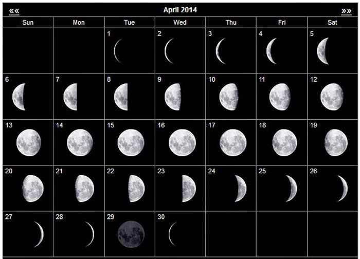 April Calendar With Moon Phases : Witchy magik