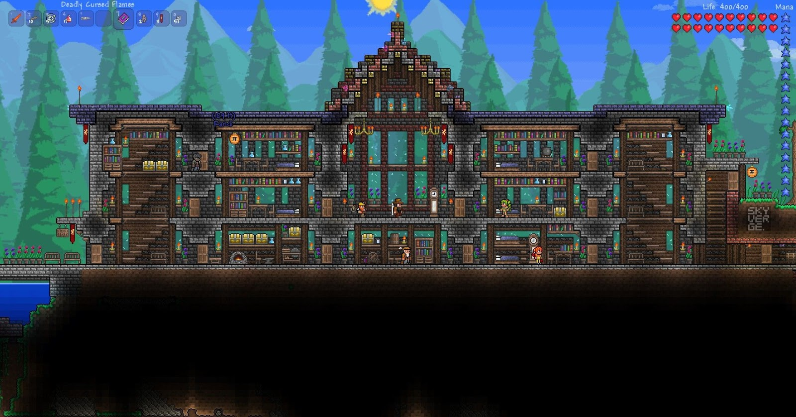Image gallery terraria houses for Best house designs terraria