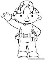 Mewarnai Gambar Bob The Builder