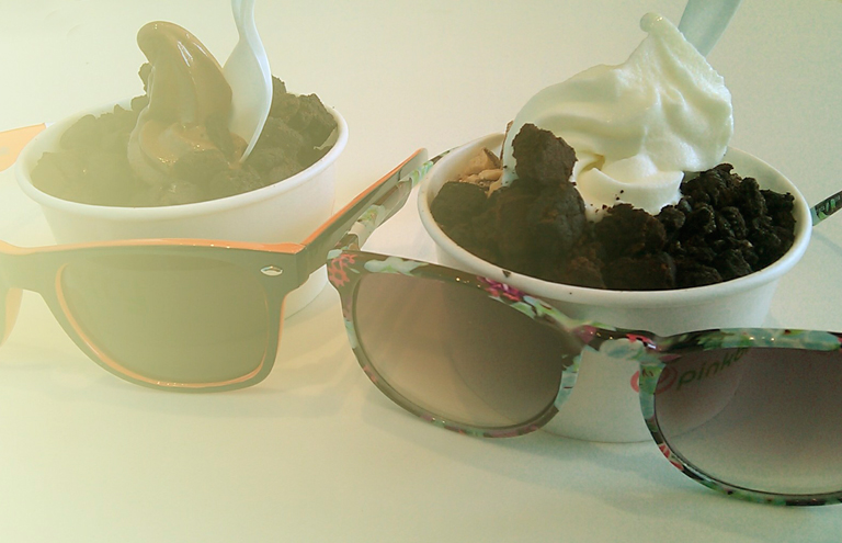 His & hers Pinkberry