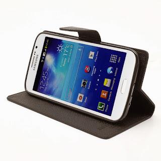 Mercury Goospery Fancy Diary Wallet Leather Cases for Samsung Galaxy Mega 5.8 I9150 I9152 - Black