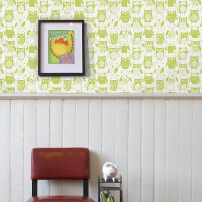 owl childrens wallpaper