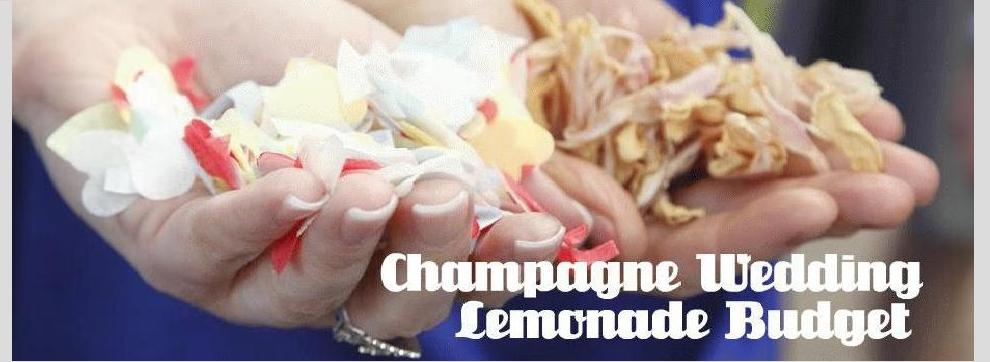 Champagne Wedding: Lemonade Budget