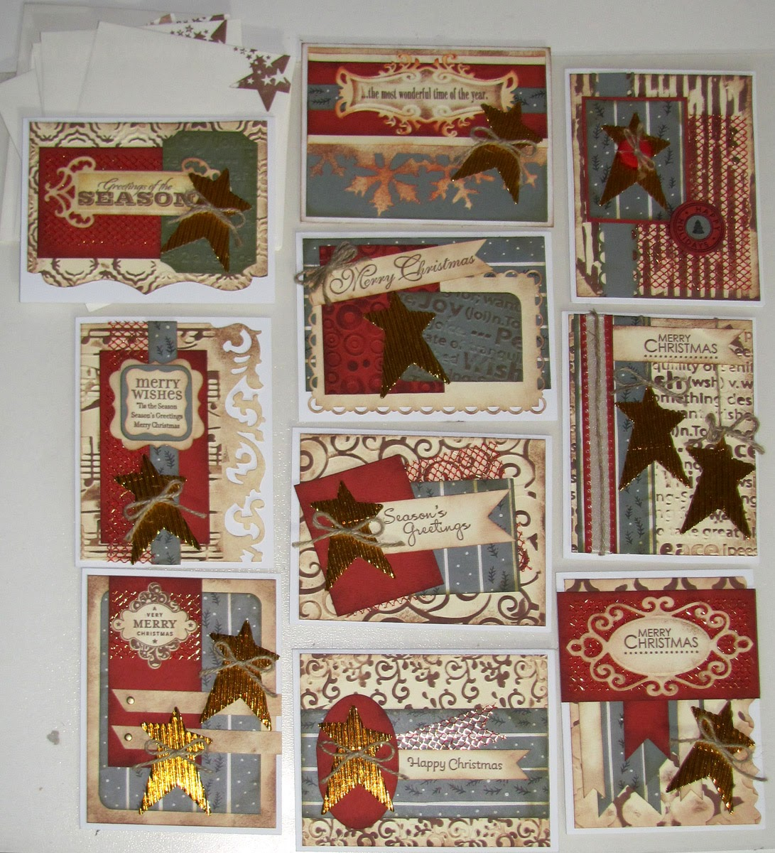 i really wanted to make use of them and that is how these 10 rustic christmas cards came to be - Rustic Christmas Cards