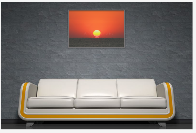 Beautiful picture of sunrising,print photography,interior with photograph