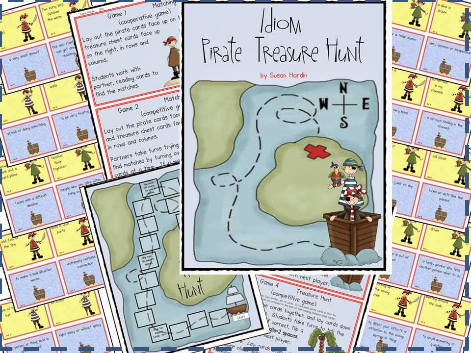 http://www.teacherspayteachers.com/Product/Idioms-Pirate-Treasure-Hunt-208136