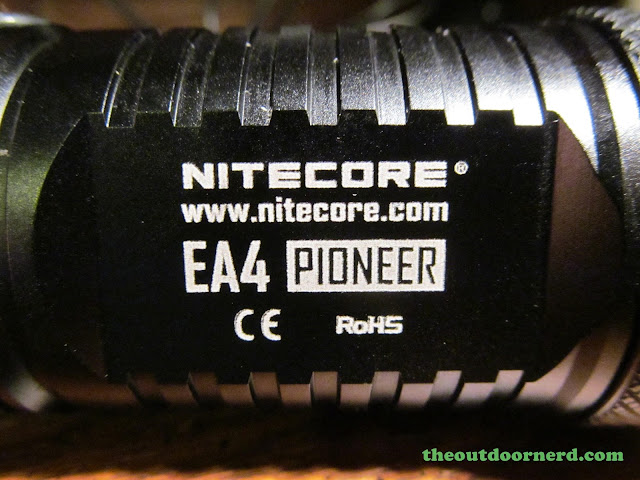 Nitecore EA4 Pioneer 4xAA Flashlight - Closeup of Branding
