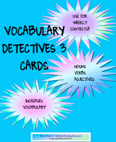 photo of Vocabulary Detectives 3 Cards, free, pdf, teacherspayteachers.com