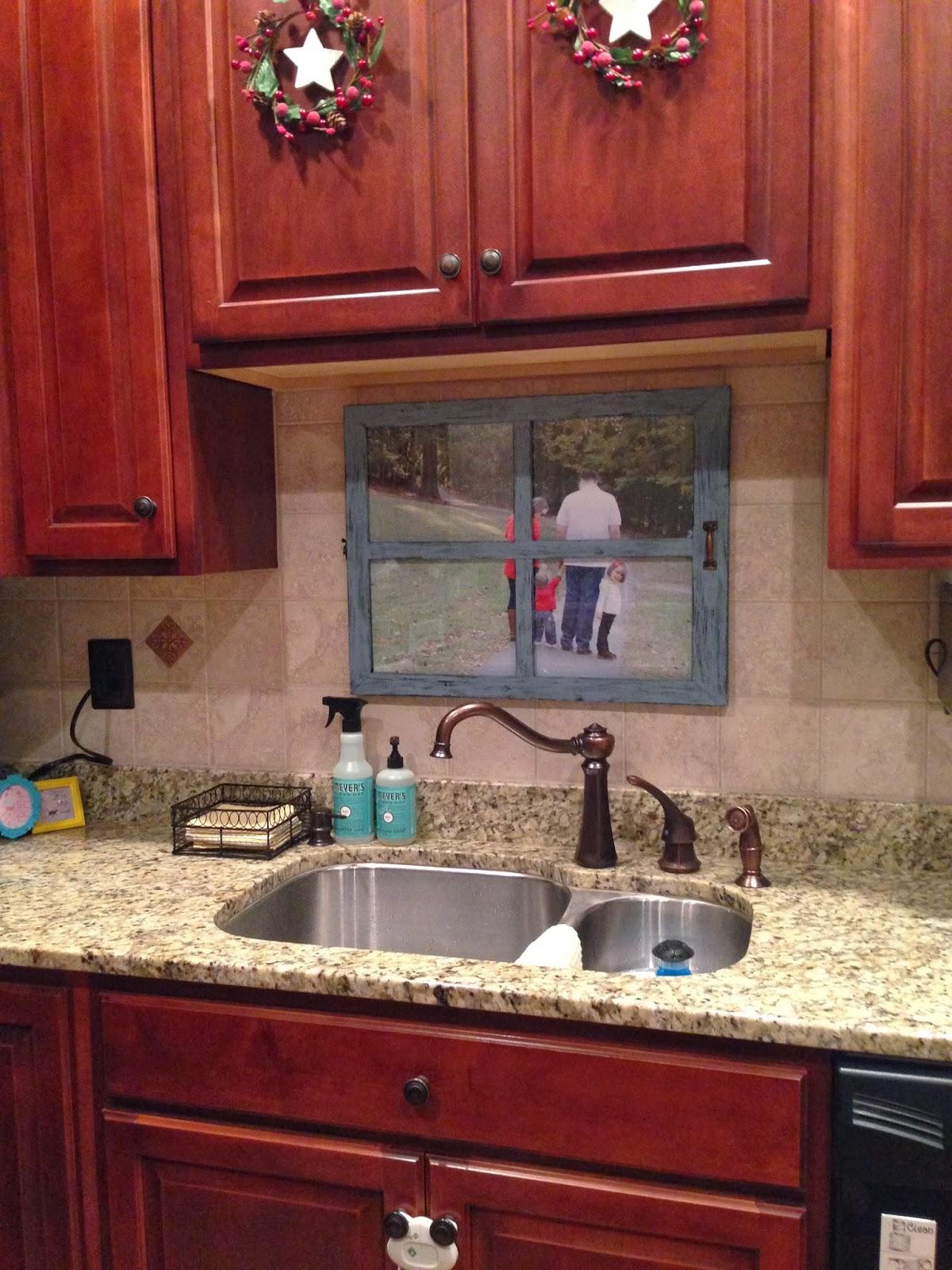fake window over kitchen sink caurora just all about windows