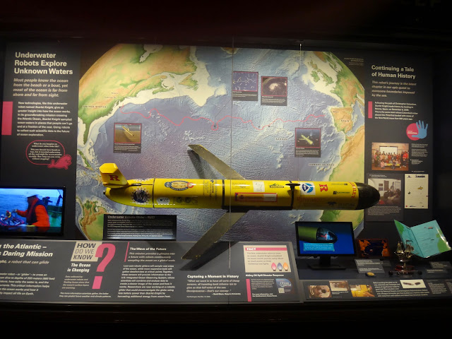 Underwater robot explorer display at National History Museum in Washington DC, USA