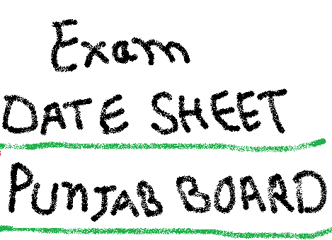 PSEB Punjab Board 12th Date Sheet 2015