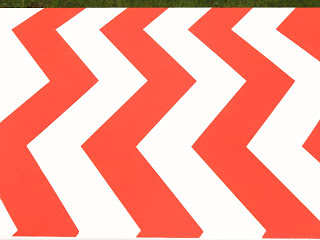 chevron, stencil, coral, gray, update