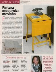 Mesa amarela na revista Minha Casa