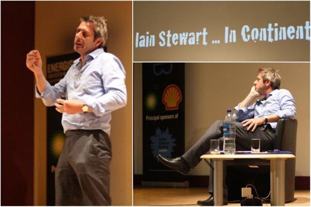 Conferencia de Iain Stewart (The Story of the Continents, La historia de los continentes) en el Festival Británico de la Ciencia 2012, British Science Festival en la Universidad de Aberdeen