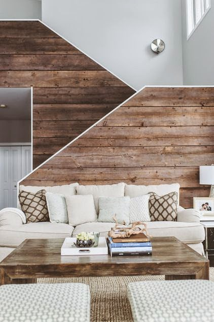 Why Not To Add A Bit More Wood Into The House By Creating And Installing A  Beautiful Wall Or Ceiling Cladding? Feature Wall In Wood Can Add More  Warmth And ...