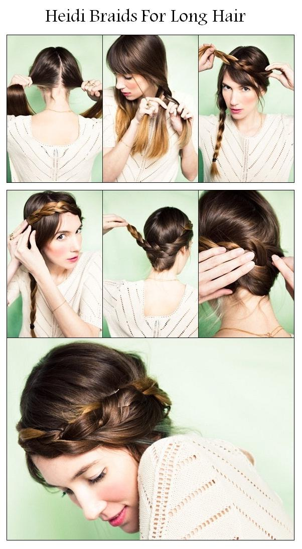 Hairstyles For Long Hair How To Make : New short hair styles how to make heidi braids for long