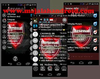 Kumpulan BBM Mod Football Series Full Feature Apk v2.8.0.21