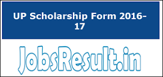 UP Scholarship Form 2016-17
