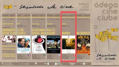 21:45 PROYECCIÓN ANACOS + MOMMY 6ago'15 en Salón García (cine)