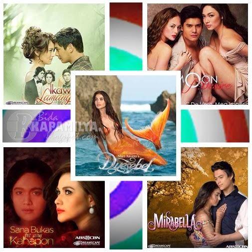 ABS-CBN Q1 teleserye: Ikaw Lamang, Moon of Desire, Mira Bella, Sana Bukas Pa Ang Kahapon and Dyesebel