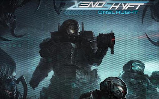 Screenshots of the Xenoshyft: Onslaught for Android tablet, phone.