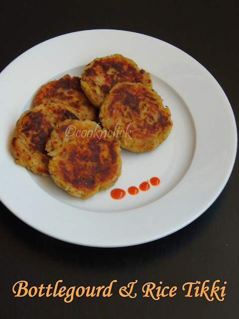 Vegan bottlegourd & rice tikki