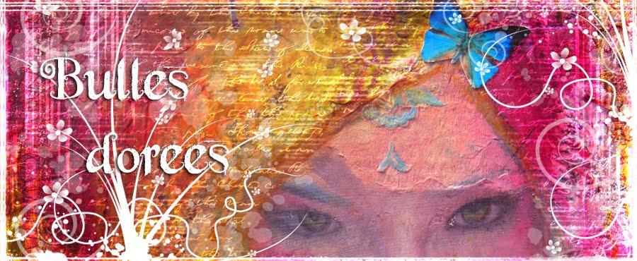 Bulles dorées, le mixed media d'Anne (Art, Altération, ATC)