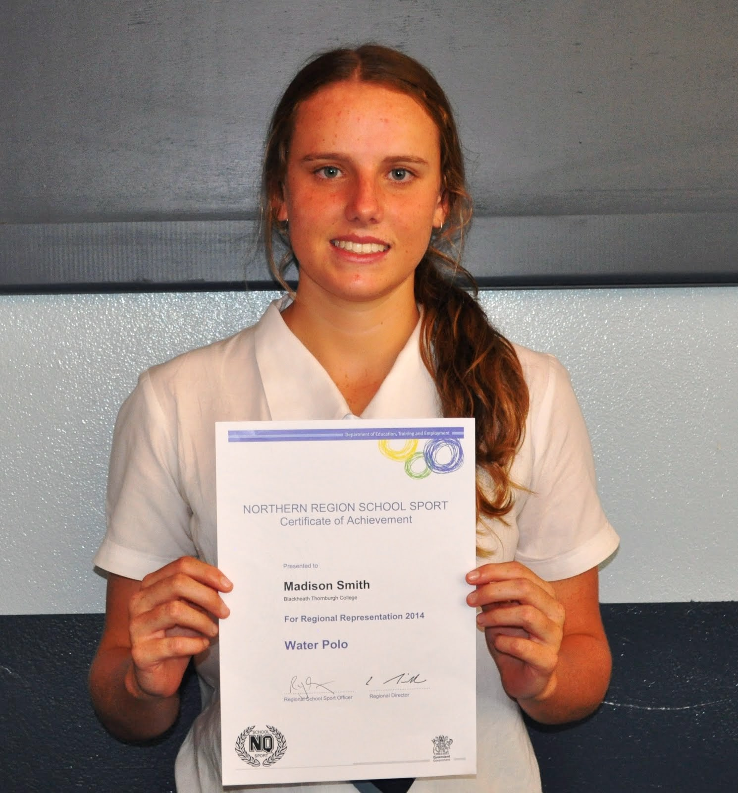 Madi Smith- North QLD Waterpolo Representative