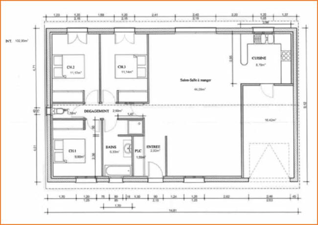Technologie au coll ge l efficacit des lampes et l for Plan de maison type
