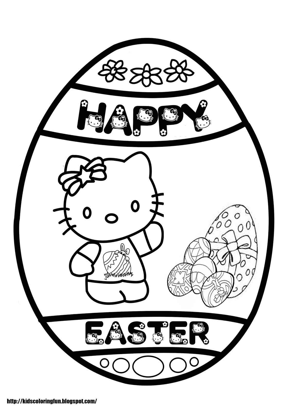 Hello Kitty Easter Coloring Pages Coloring Pages To Print Hello Easter Coloring Pages