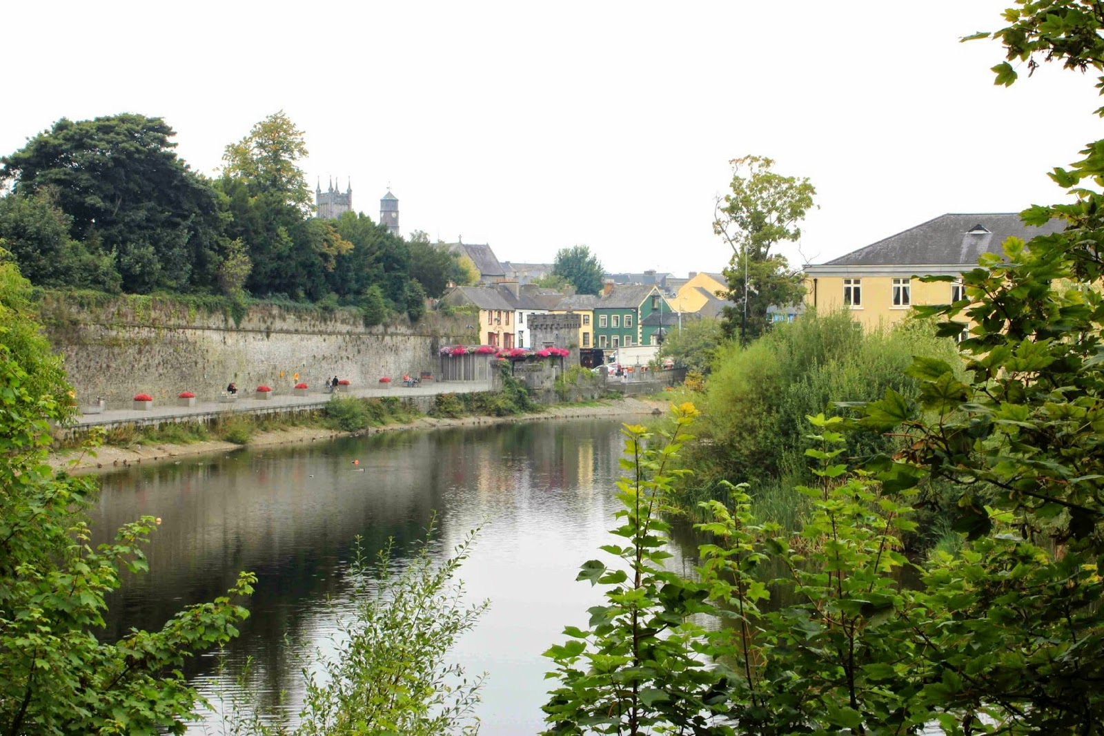 view of kilkenny from the castle gardens