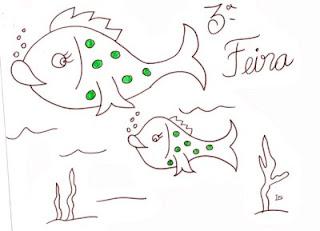 desenho peixes para pintar