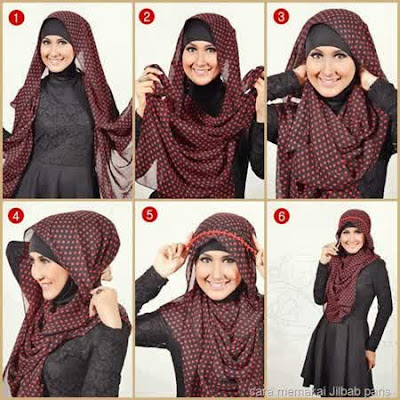 Cara Memakai Jilbab Segi Empat Mewah