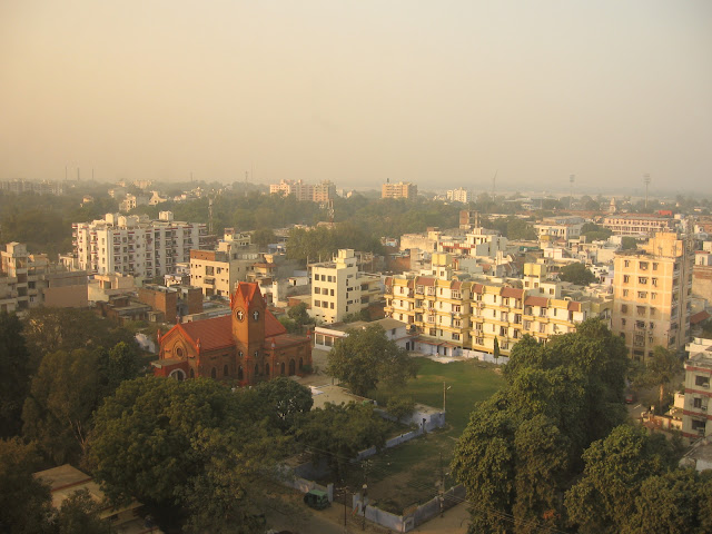 Bird's view of Kanpur city