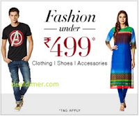 Clothing, Footwear & Accessories Under Rs. 499