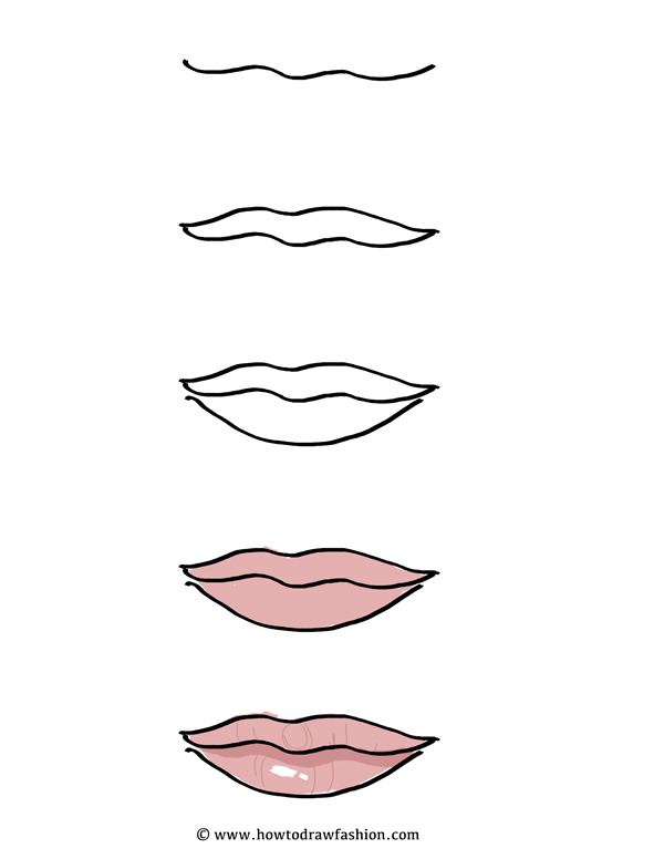 How To Draw Fashion How To Draw The Face Eyes Nose And Lips