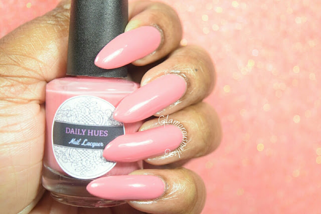 "Daily Hues Nail Lacquer ""Shimmer Pink"" Swatch"