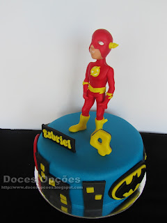 comics flash birthday cake