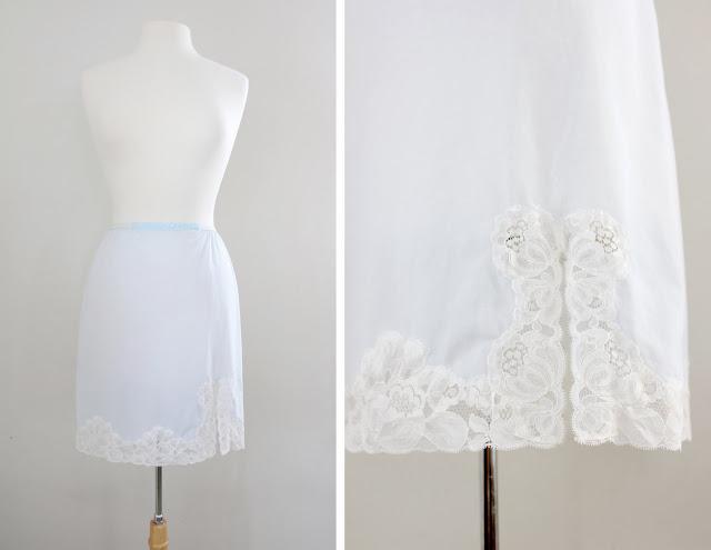 vintage skirt slip lingerie