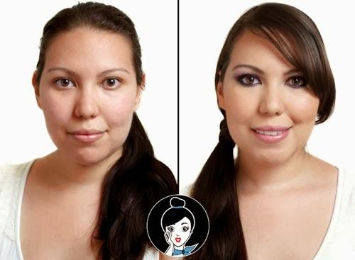 look antes y despues de una blogger de belleza