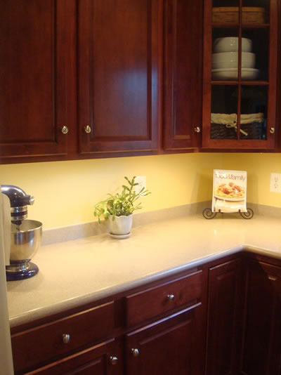 A color specialist in charlotte important tips on color for Best way to line kitchen cabinets