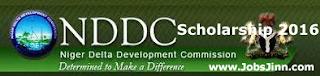 NDDC Scholarship Scheme 2016