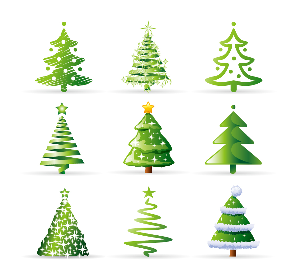 Variety of cartoon christmas tree - Arbol de navidad para imprimir ...