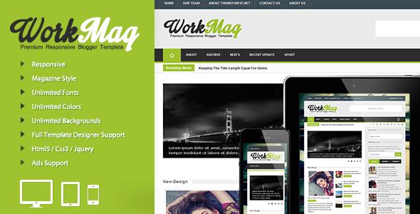 Workmag - Responsive Multipurpose Blogger Templates