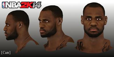 NBA 2K14 Realistic LeBron James Face Mod