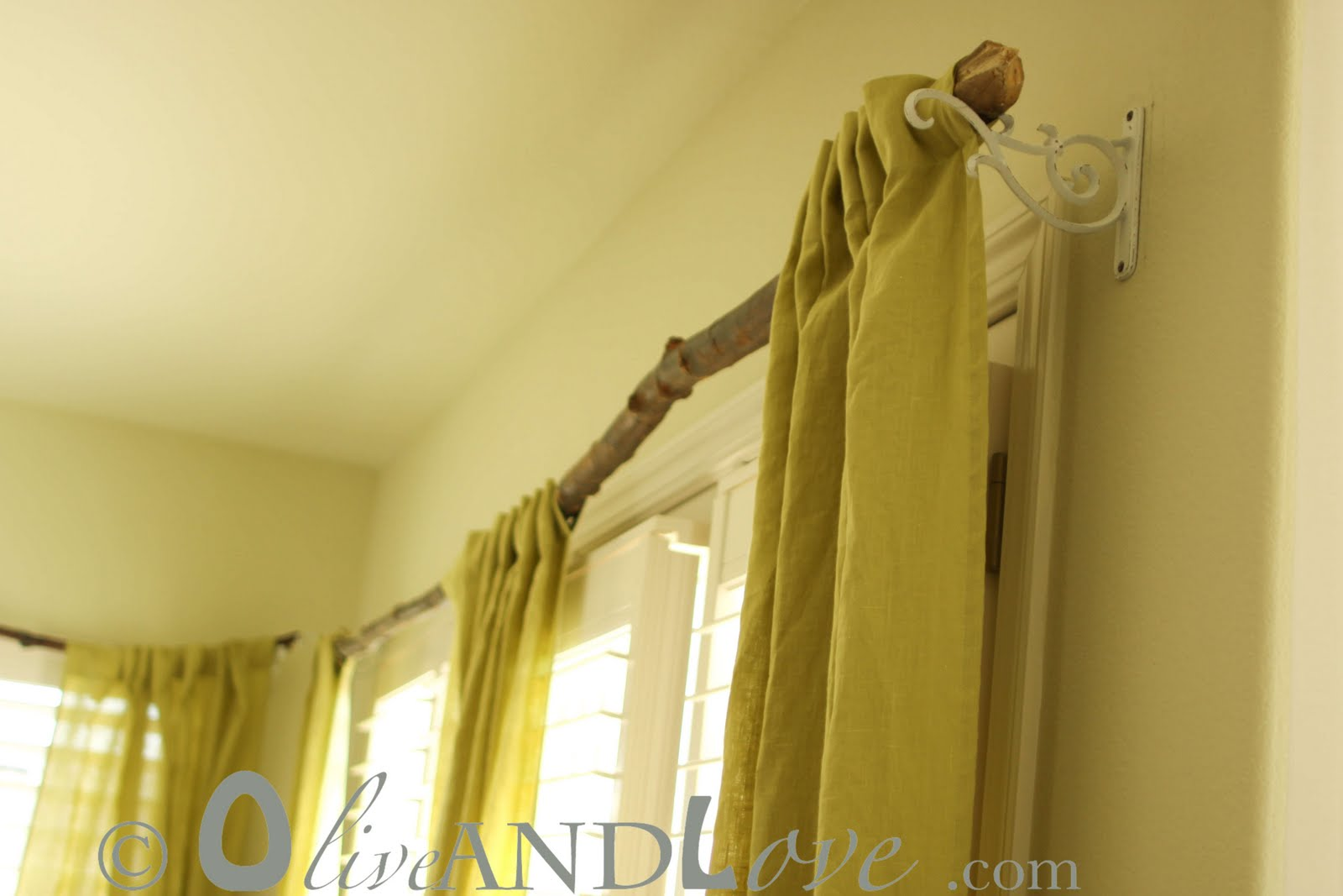 Olive and Love: Tree Branch Curtain Rod